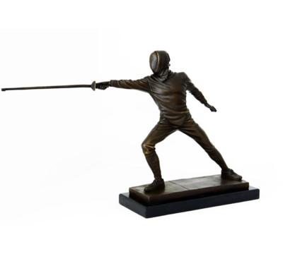 statue-bronze-escrime