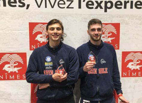 Issa Bayram (U20) et Max Barlet (U17) terminent 3e du challenge national de Nîmes dans leur catégorie respective.