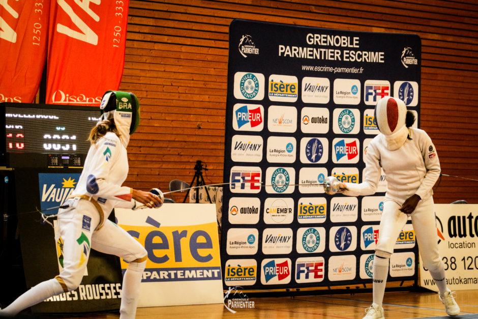 La championne du Monde Nathalie Moellhausen (BRA) a disposé de Lauren Rembi (FRA) en finale du Master de Vaujany épée dame organisé par Grenoble Parmentier.