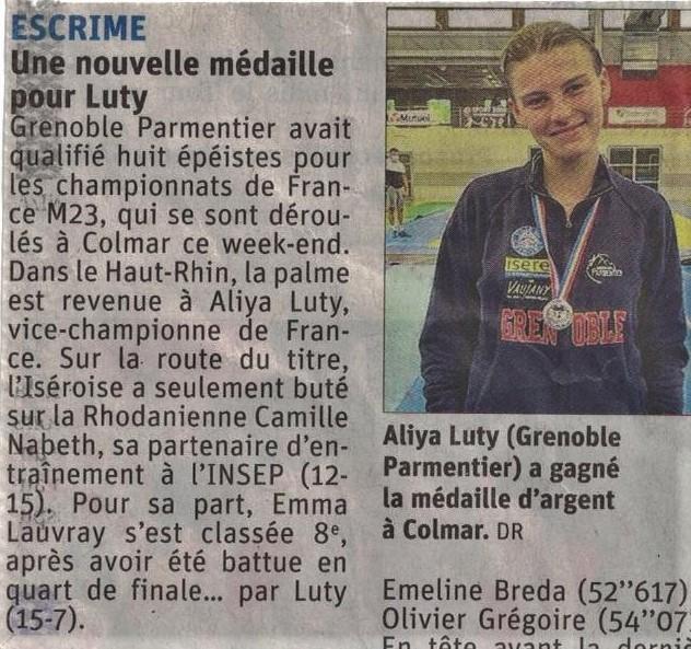 Aliya Vice-championne de France U23 Le Dauphiné Libéré