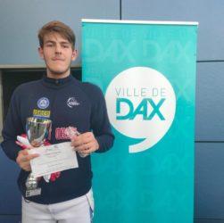 Nolan Wingerter l'emporte au circuit national de Dax escrime grenoble